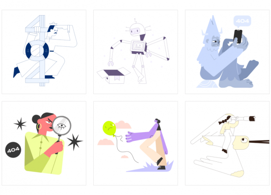 404 illustrations