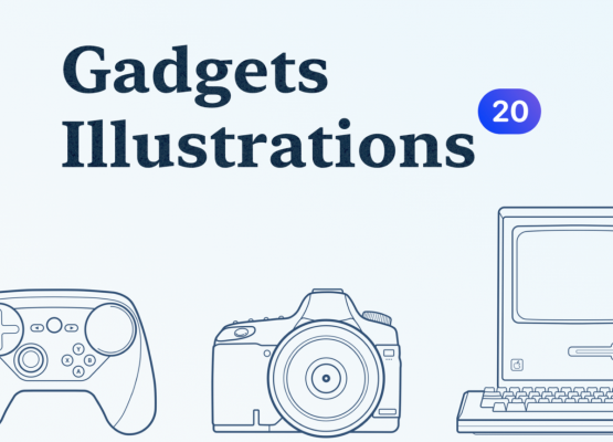 Gadgets Outline Illustrations