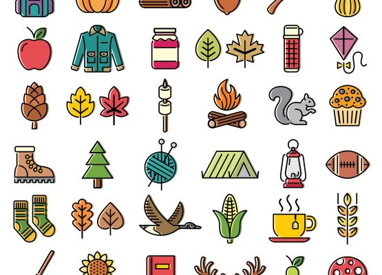 Symbols of Fall Illustrations